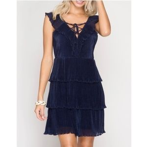 🎁 Holiday Party Dress - Navy